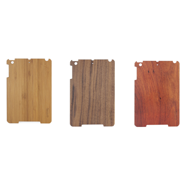 Natural wood + PC material phone case multiple material custom smart phone shell protective back case for iPad mini2