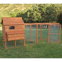 Manufacture export directly cheap wooden chicken coop with large run for laying hens
