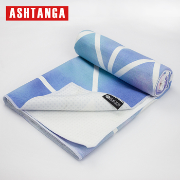 Super absorbent sublimation printed microfiber yoga towel with Silicone Dots