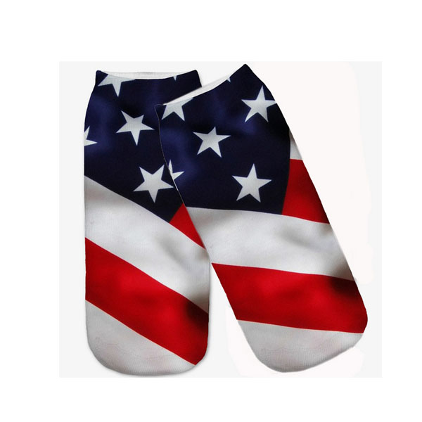 3236 new funny popular 3d printed uas flag socks custom screen printed socks OEM factory wholesale