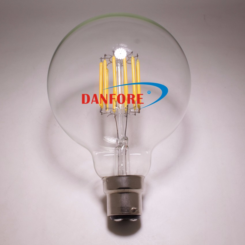 10W AC85-265V Edison Glass G30 G95 LED Bulb with B22 base