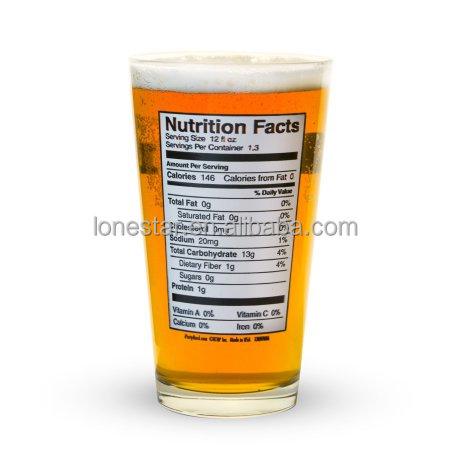 hot selling 16oz Wholsale drinking Pint Glass promotional glass Beer glass without handle