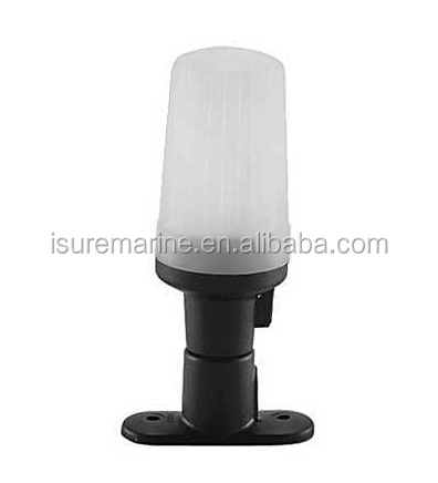 "Boat Marine Navigation Light Perko All-Round Light Black Plastic 3-7/8"" Tall"