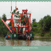 Dismantle portable sand dredging machine/ boat/ vessel