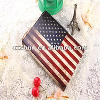 2013 New Products American US Flag British UK Retro Flag Leather Case For Ipad Air