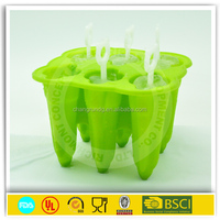 2015 new hot sale custom eco-friendly fashionable silicone ice cube tray/Silicone ice pop cube tray mold/ice make mold