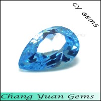 Aquamarine color Pear Shape cz stone