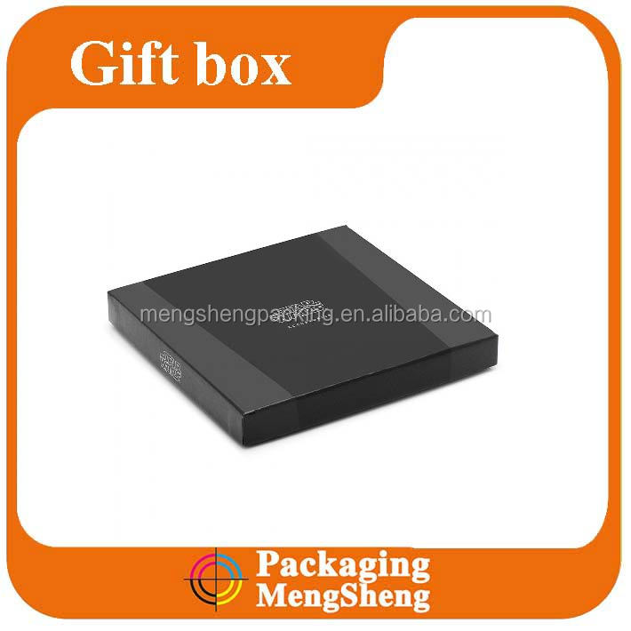 Printed Matt Laminated Detachable Lid Wallet Box,paper packaging