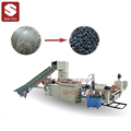 Waste PP PE bags plastic recycling granulator machine