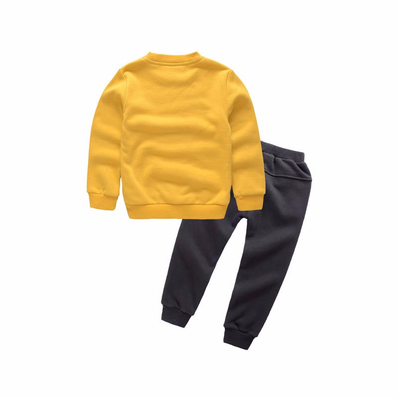 Wholesale custom screen printing fleece sweatshirt pants kids sweat suits