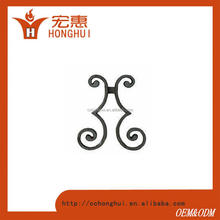Beautiful Decorative Metal Scroll Cast Aluminum Flowers For Doors