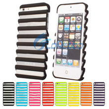 On Sale!Hard Ladder Shape Hollow Out Stripe Mobile Phone Case For iPhone 5