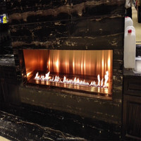 safe,modern built in fireplace with bioethanol fuel