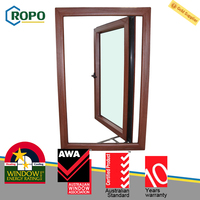Double Glazing PVC Plastic French Casement Window Manufacturers