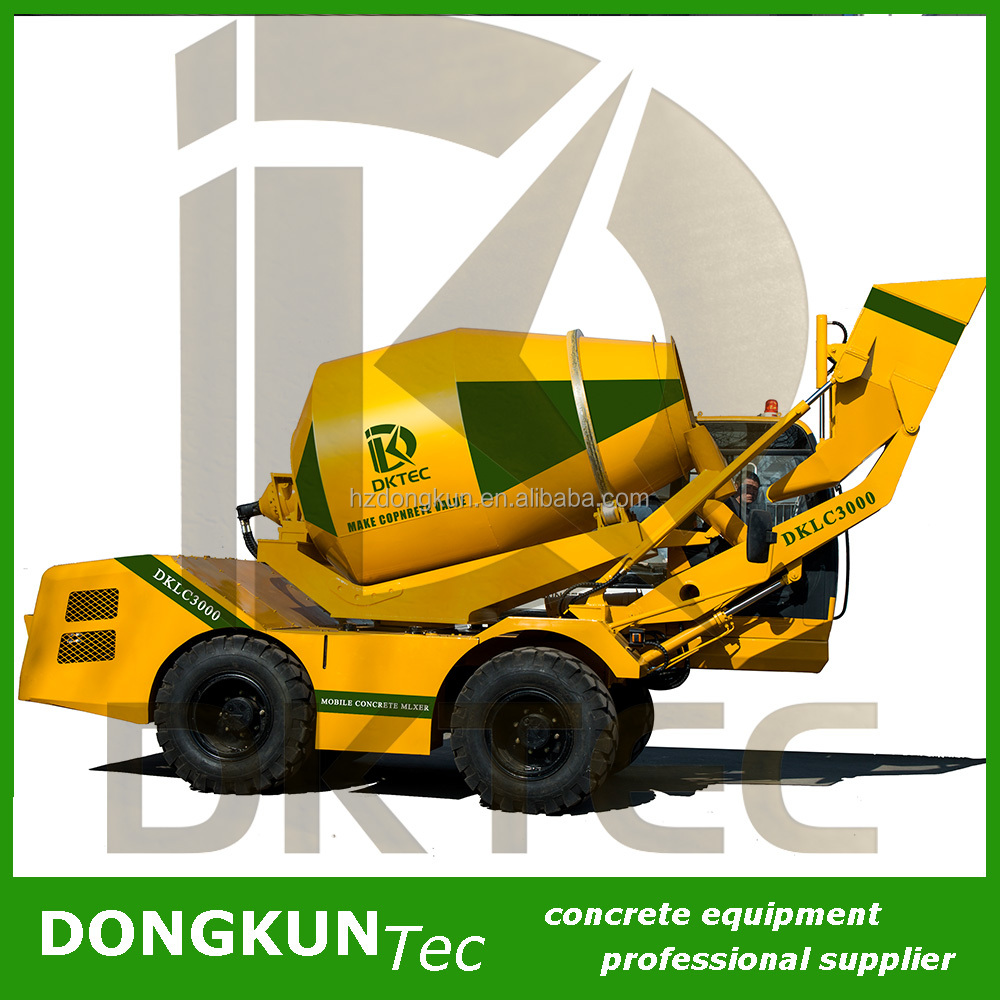 diagram of concrete cement mixer truck