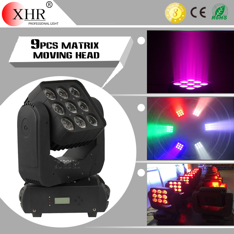 Hot sale Stage dj disco lighting 3x3 9cps 12w matrix led indoor moving head light