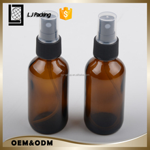 100ml amber aerosol spray glass essential oil bottle