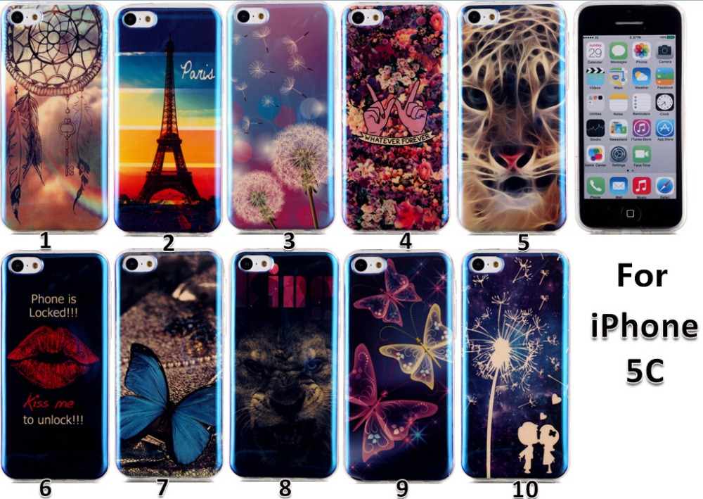 New Arrival Special Colorful Patterns Soft TPU Case For iPhone 5C, For iPhone 5C TPU Case