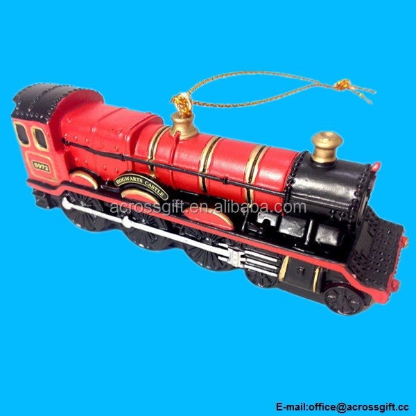 Express Train Engine Resin Christmas Tree Ornament