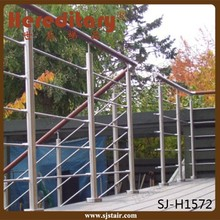 exterior rod bar balustrade stainless steel fence post for balcony grill design
