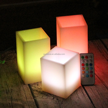 Amber Eco Friendly Electric Flameless Colorful Wax Led Candle with Remote Control