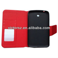 2013 Fashion wallet For Samsung Galaxy tab 3 P3200 cases stand function
