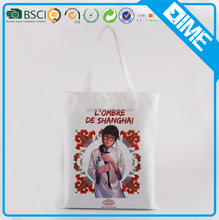 china supplier handled canvas fabric eco shopper tote bag