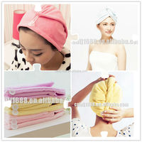 Wholesale Price, hair turban, microfiber hair dry cap