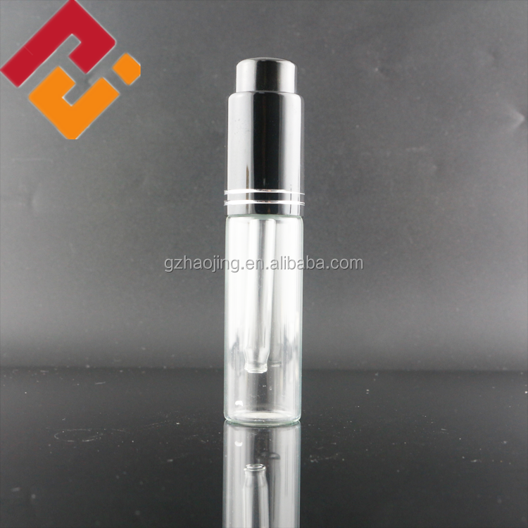 wholesale 10ml clear airless essential oil diffuser glass dropper bottle