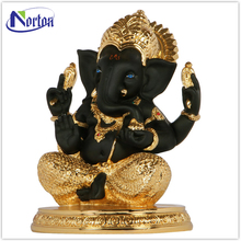 Gold plated black brass ganesh statue NTBS-163Y