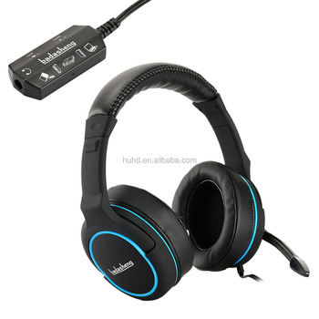 Supper bass big earcups overhead gaming mic headphone for PS4 Xbox one PC tablet cell phone