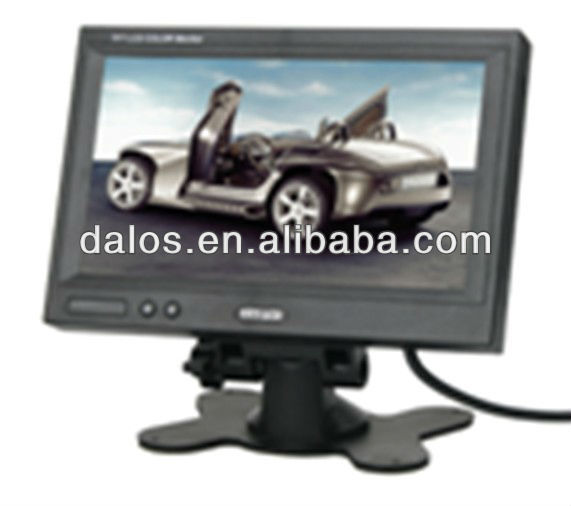 "New 7"" TFT LCD Car Monitor Reverse RearView/Car 7 inch Pillow TFT LCD Color Monitor 2CH Video Input car monitor"