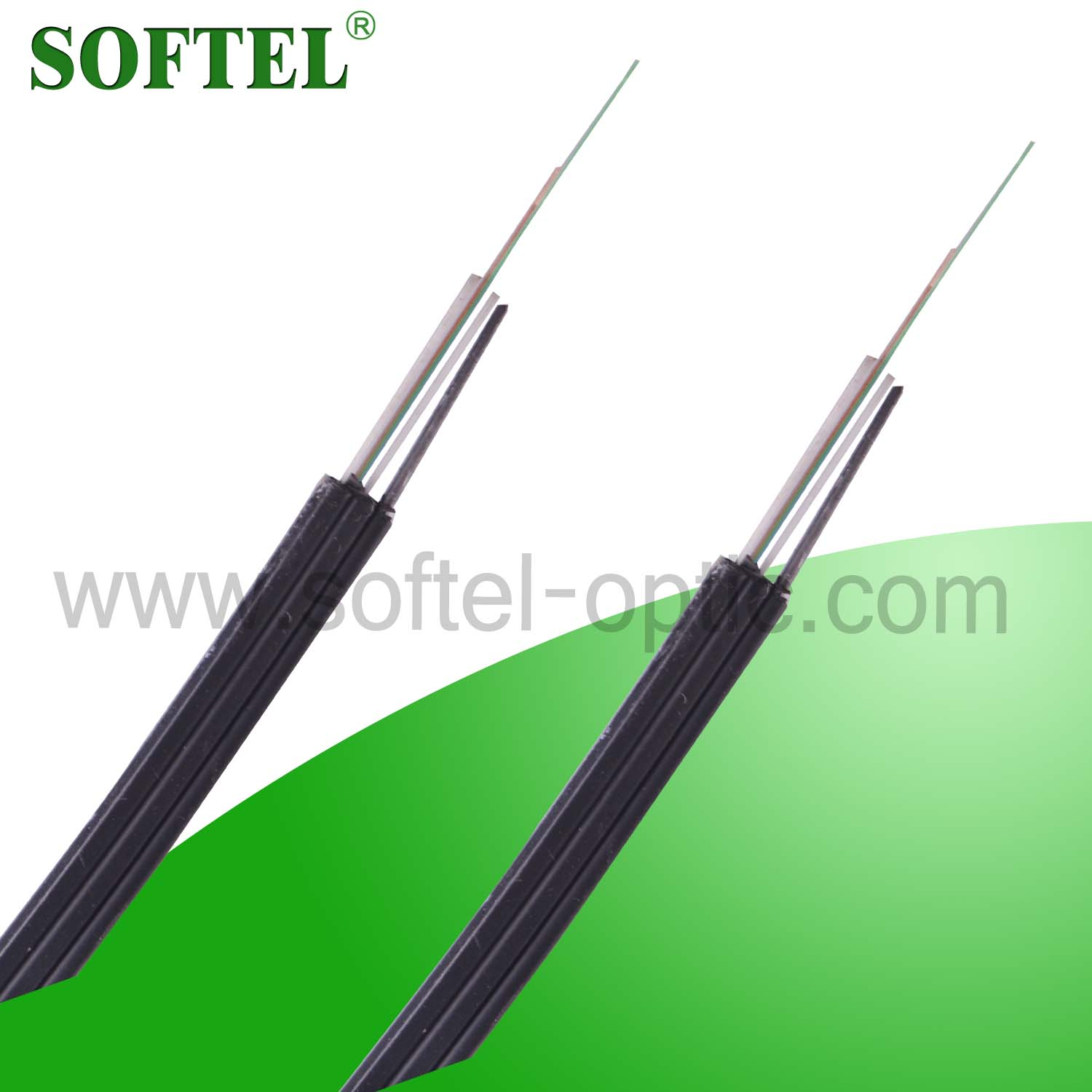 8 Core FTTH Outdoor Drop Cable, FTTH Drop Optic Fiber Cable