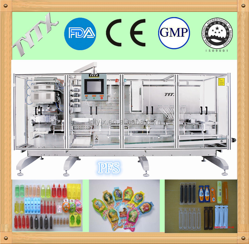 plastic amp filling packing machine