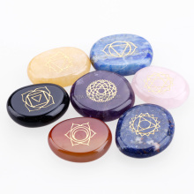 Customized engraving words carving various patterns worry pocket stone crafts