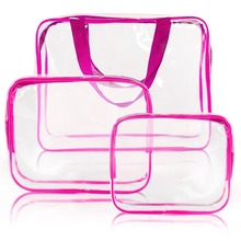 Clear PVC Travel Toiletry Bag Set