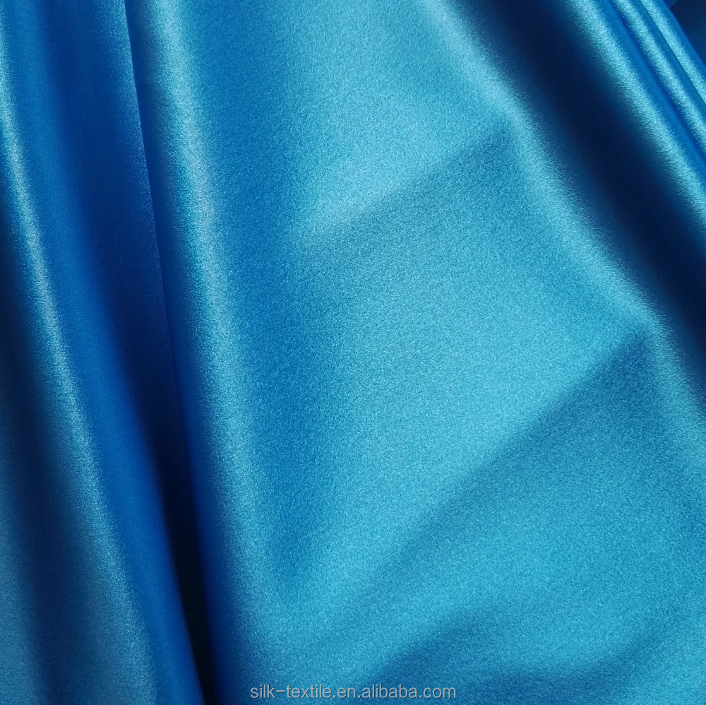 Stretched silk crepe charmeuse satin with spandex