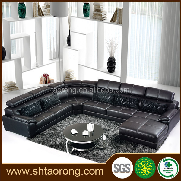 modern luxury living room sectional sofas leather