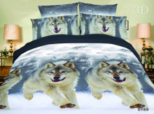 Wolf dog printing home sense bedding 3d animal 100% polyester textiles