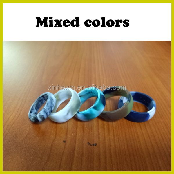 Designed for comfort, fitness, exercise, weight lifting/training, running, rubber ring, safe silicon wedding band ring