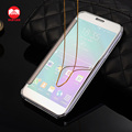 2016 New Arrive Luxury Plating Touch Sensitive Clear View Sleep Smart Flip Mirror Case for Samsung Galaxy A8