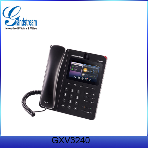 Grandstream dual GE Ethernet port VoIP Phone GXV3240 with 6 SIP Account