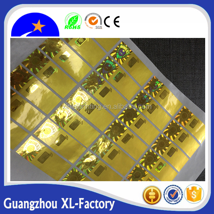 Various colorful iridescent hologram a4 size gold laser stickers,Gold hologram hot stamping foil sticker