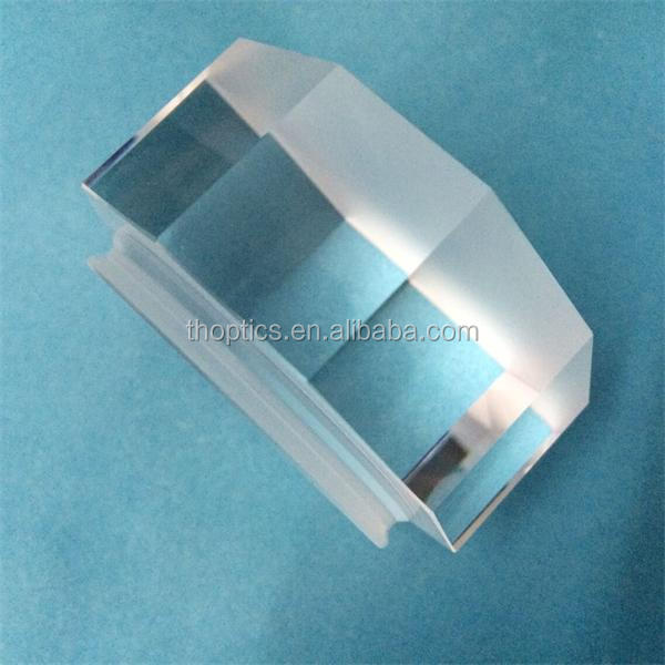 BK7 glass rectangular prism with aluminum and black coated