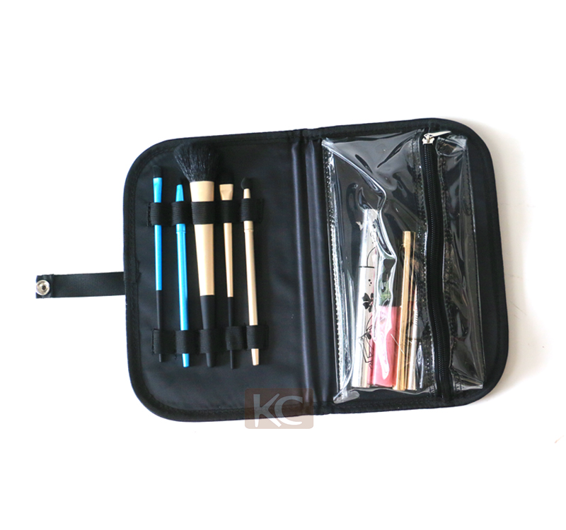 PVC leather train travel hairdressing carrying case, packaging boxes for hair product and carry case box