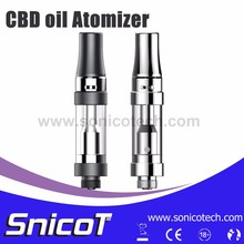 New Solutions Dual Coil Glass Tube Cbd Tank Atomizer Factory in China