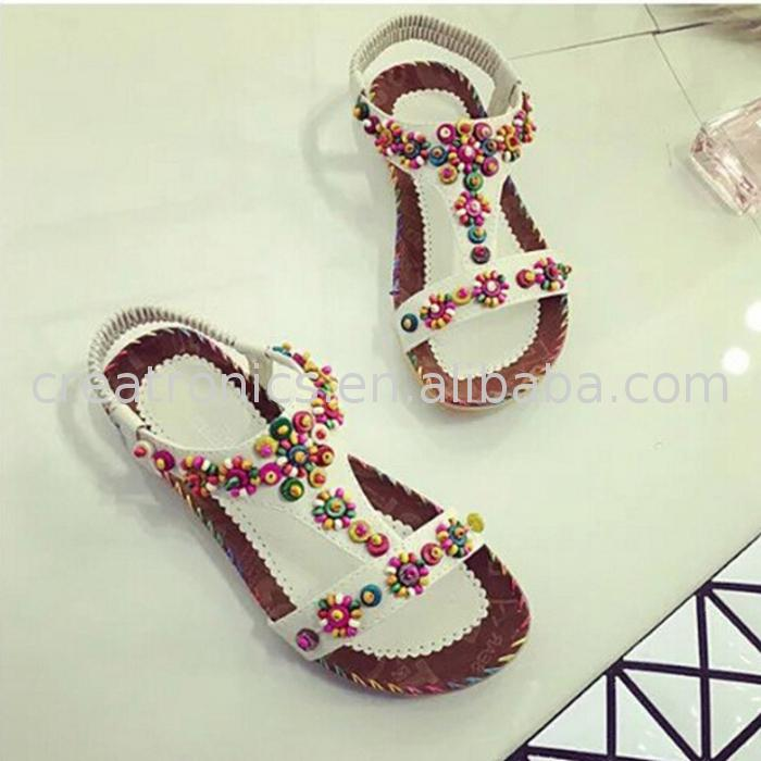Flower design young girl sandals womens fashion women's elegant sandals