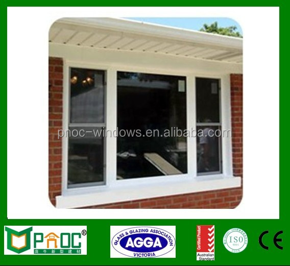 Aluminum single hung window, double glazing aluminum single hung glass windows