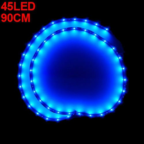 Car Underbody 90cm 45LED Flexible Strip Blue Light