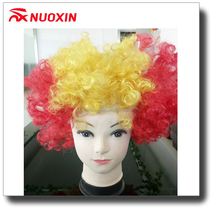 NX FLAGS wholesale carnival party soccer fans synthetic afro wig